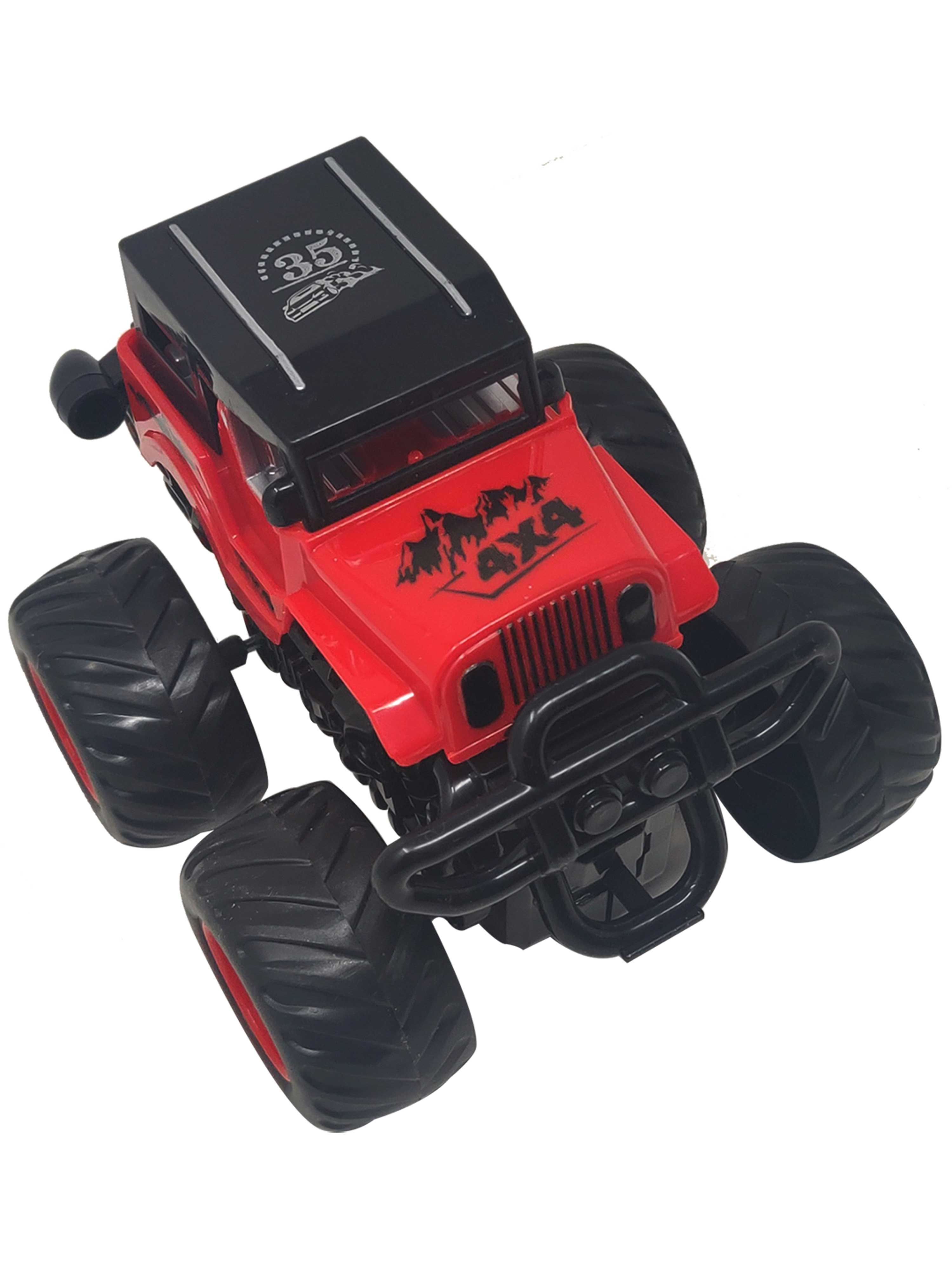 Friction Cars-Jeep-Red