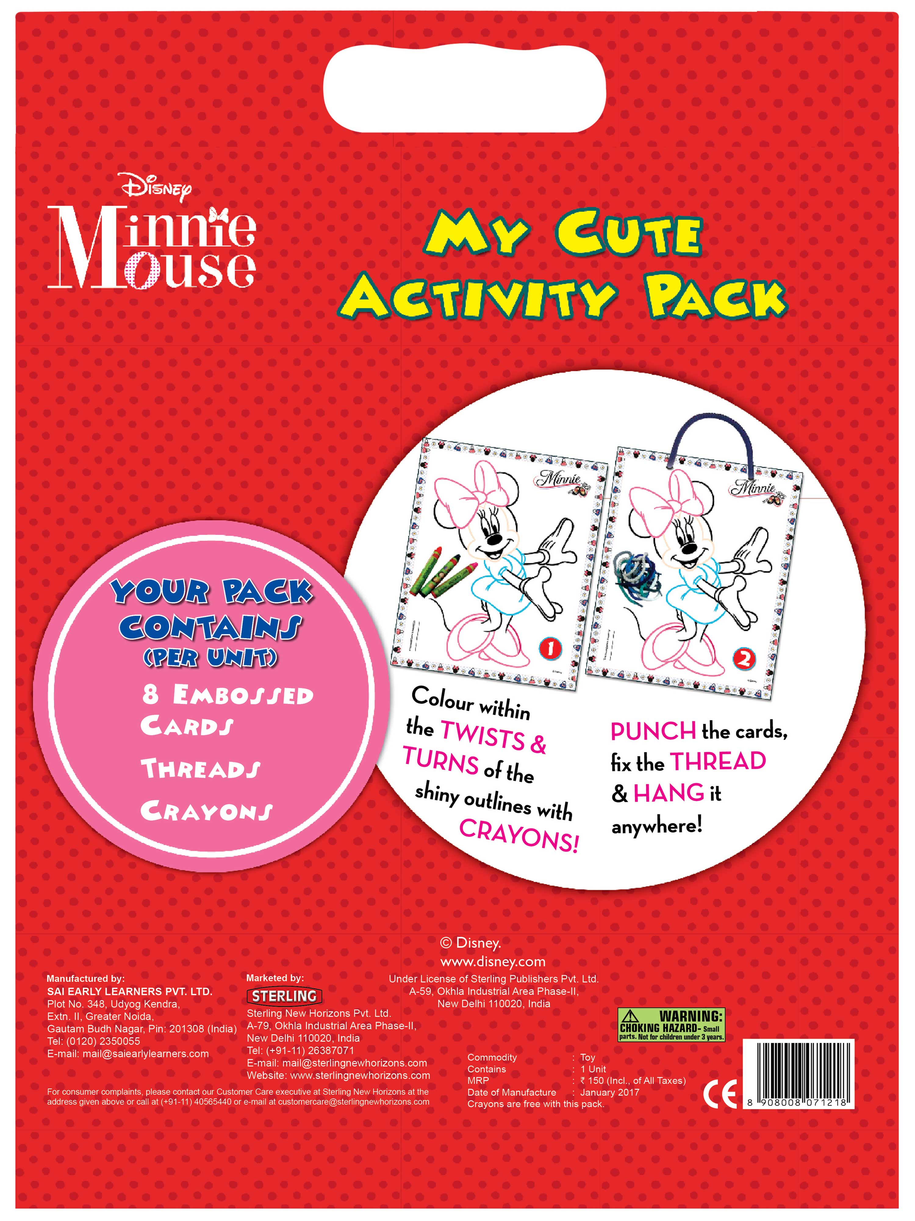 My Cute Activity Pack-Minnie Mouse Bumpy